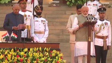 Narendra Modi Sworn: দ্বিতীয়বার প্রধানমন্ত্রী পদে শপথ নিলেন নরেন্দ্র মোদি, প্রথম তিনে রাজনাথ-অমিত-নিতিন