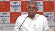 Kolkata: মঙ্গলবার থেকে 'গান্ধী সংকল্প যাত্রা' শুরু করবে রাজ্য বিজেপি, জানালেন দিলীপ ঘোষ