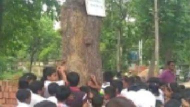 Protest Against Green Destruction: খেলব কোথায়? বুড়ো কদমগাছকে ঘিরে কান্নার রোল খুদে পড়ুয়াদের