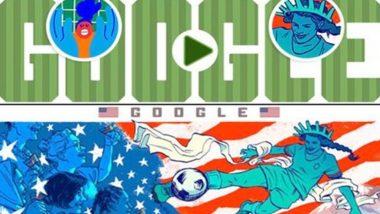 মহিলা ফুটবল বিশ্বকাপ ২০১৯: গুগল ডুডলে আজ স্ট্যাচু ছেড়ে বেরিয়ে এসে লিবার্টির প্রতীক সেই মহিলাও ফুটবল খেলছে
