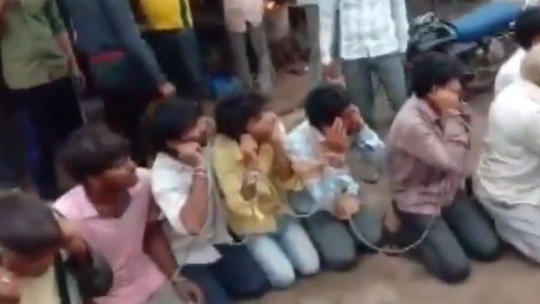Cow Vigilantism in Madhya Pradesh: গরু পাচারের অভিযোগে ২৪ জনকে একসঙ্গে বেঁধে, কান ধরে বসিয়ে বেধড়ক মার