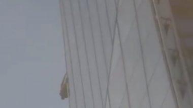 দড়ি ছাড়াই হাজার ফুটের বিল্ডিংয়ে তরতরিয়ে উঠছেন যুবক, দেখুন ভিডিও