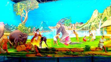 Viswakarma Puja 2019: 'সবুজ বাঁচাও' থিম এবার বিশ্বকর্মা পুজোয়, বর্ধমানের মন্তেশ্বরের এই এলাকায় দেবশিল্পীর পুজোয় থিমের বাহার