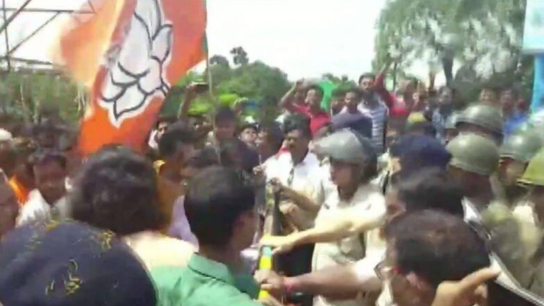 TMC-BJP Clash: তৃণমূল-বিজেপি সংঘর্ষে ধুন্ধুমার নিমতা; থানায় চড়াও হয়ে বিক্ষোভ বিজেপির বলে অভিযোগ