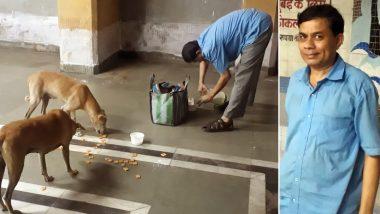 Navi Mumbai: সন্ধে নামলেই স্টেশনে স্টেশনে পথ কুকুরদের দুধ, বিস্কুট খাওয়ান জিতুভাই