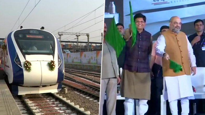 Vande Bharat Express: দিল্লি-কাটরা বন্দে ভারত এক্সপ্রেসের আনুষ্ঠানিক যাত্রার সূচনা করলেন  স্বরাষ্ট্রমন্ত্রী অমিত শাহ