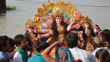 Durga Puja 2019 Dashami: বলো দুগ্গা মাইকী জয়, আসছে বছর আবার হবে; শুরু হল গঙ্গাবক্ষে প্রতিমা নিরঞ্জন