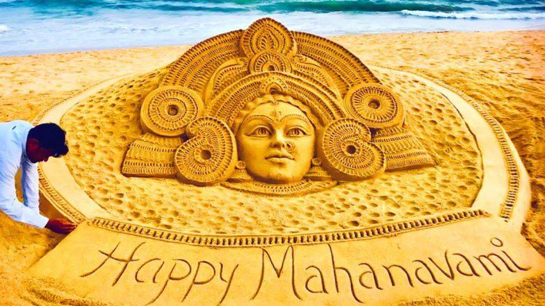 Maha Navami 2019 Wishes & Images: পুরীর সমুদ্র সৈকতে বালিতে ফুটে উঠল মহানবমীর শুভেচ্ছা, বালি ভাস্কর সুদর্শন পট্টনায়েকের শিল্প ভাইরাল
