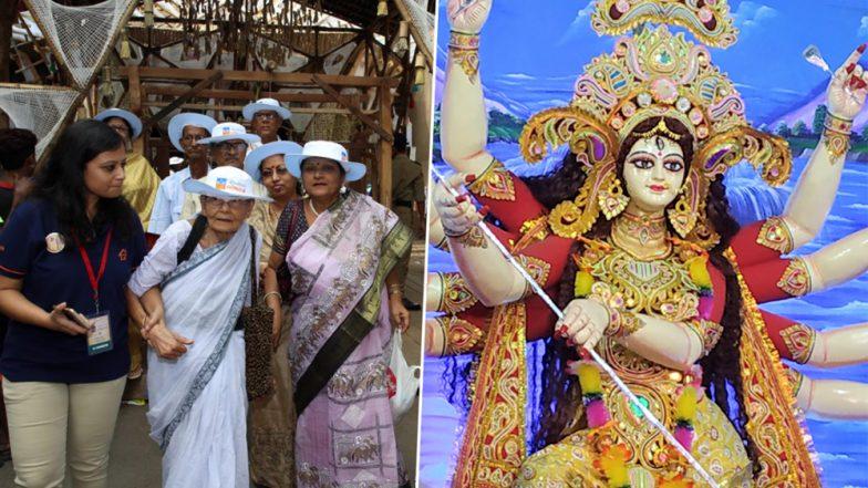 Durga Puja 2019:  রিয়েলটেকের রিয়েল পুজোয় এবার দুগ্গা দর্শনে বৃদ্ধাশ্রমের বাসিন্দারা