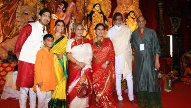 Durga Puja 2019: মুম্বইতে দুর্গাপুজোয় মাতলেন অমিতাভ বচ্চন, জয়া বচ্চন, রানি মুখার্জি, কাজল