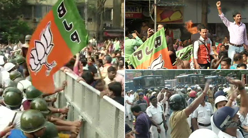 BJP Workers Protest: বিজেপির পৌরসংস্থা অভিযানে জলকামান, কাঁদানে গ্যাস; আটক রিমঝিম মিত্র, রাজু ব্যানার্জি
