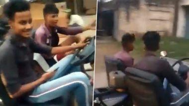 Man Modifies Bike Into Car: ছিল বাইক, ভোল পাল্টে হল চারচাকা গাড়ি! 'তাজ্জব যান' বানিয়ে তাক লাগালেন লুধিয়ানার যুবক