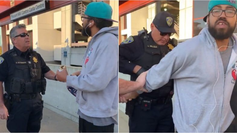 Man Arrested For Eating Sandwich On Rail Platform: রেলের প্ল্যাটফর্মে স্যান্ডউইচ খাওয়ায় গ্রেফতার ব্যক্তি! ভাইরাল ভিডিও