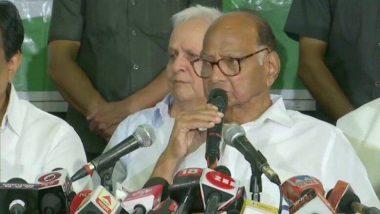 Maharashtra Government Formation:  এনসিপি বিরোধী আসনেই, বিজেপি-শিবসেনা জোটকে সরকার গড়ার পরামর্শ শরদ পাওয়ারের