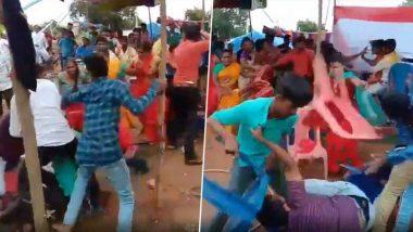 Telangana: বিয়ে বাড়িতে ডিজে বাজানো নিয়ে ঝামেলার জেরে বরপক্ষ-কনেপক্ষর চেয়ার ছোড়াছুড়ি, ভাইরাল ভিডিও