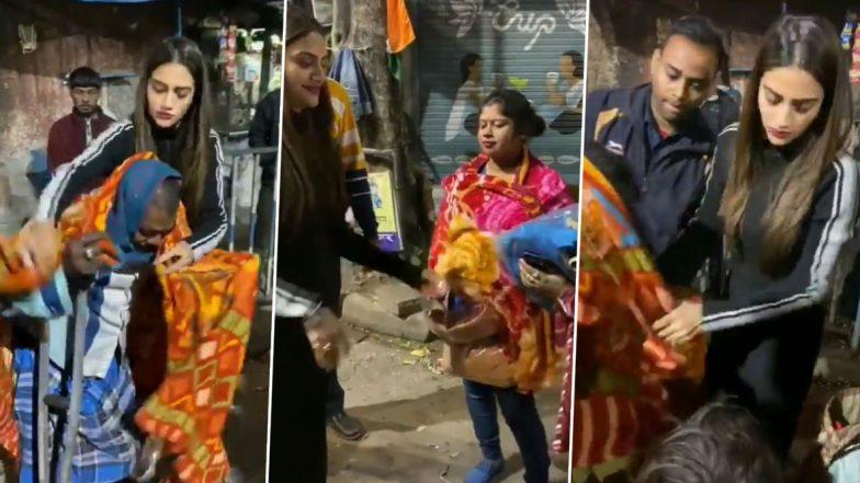 TMC MP Nusrat Jahan: সান্টাক্লজ হয়ে হাজির, বড়দিনের আগে পথবাসী-যৌনকর্মীদের কম্বল বিতরণ করলেন  নুসরত জাহান