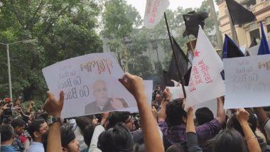 Jagdeep Dhankhar: বিনা নিমন্ত্রণে যাদবপুর বিশ্ববিদ্যালয়ে পৌঁছতেই গো-ব্যাক স্লোগান! জগদীপ ধনখড়ের উদ্দেশ্যে কালো পতাকা ওড়াল পড়ুয়ারা