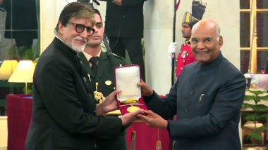 Amitabh Bachchan Receives Dadasaheb Phalke Award : দাদাসাহেব ফালকে পুরস্কার পেলেন অমিতাভ বচ্চন