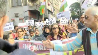 Citizenship Amendment Act Protests: নাগরিকত্ব আইন ও এনআরসি-র বিরোধিতায় পথে বিশিষ্টরা, সামনের সারিত অপর্ণা সেন