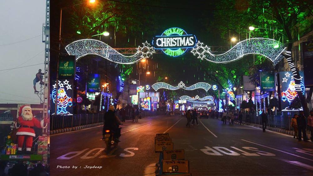 Christmas In Kolkata: বড়দিনের মৌতাতে কসমোপলিটন কলকাতা, প্রিয় শহরের জনারণ্যে হেঁটে বেড়ায় সান্তা বুড়ো