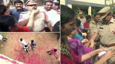 Hyderabad Encounter: এনকাউন্টারে ঝাঁঝরা ধর্ষকরা, সানন্দে পথে বেরিয়ে সাইবারাবাদ পুলিশকে রাখি পরিয়ে গোলাপ পাপড়িতে অভিনন্দন তেলেঙ্গানার বাসিন্দাদের