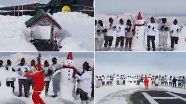 Christmas 2019: কাশ্মীরে বরফে মোড়া নিয়ন্ত্রণরেখা, তারমধ্যেই বড়দিন উদযাপনে মাতলেন সেনা জওয়ানরা(দেখুন ভিডিও)