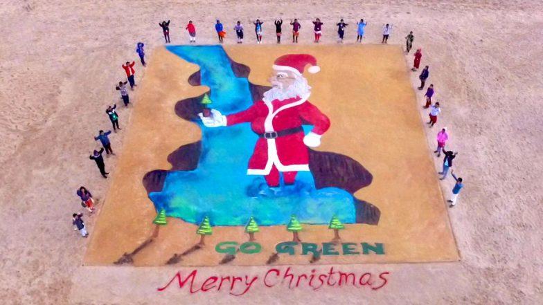 3D Santa Claus: বালি দিয়ে বিশ্বের সবচেয়ে বড় থ্রি ডি সান্টাক্লজ, আবারও তাক লাগালেন সুদর্শন পট্টনায়েক