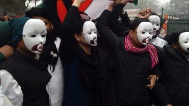 Anti CAA Protests: সংশোধিত নাগরিকত্ব আইনের বিরোধিতায় এবার মুখোশ পরে পথে  যুব কংগ্রেসের প্রতিনিধিরা
