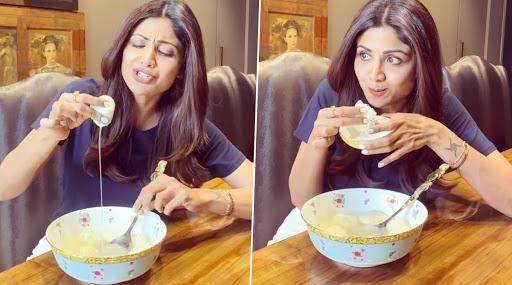 Shilpa Shetty Eating Rasgulla Serially: গপাগপ রসগোল্লা খাচ্ছেন শিল্পা শেট্টি! এটাই নাকি সান ডে ভাইবস