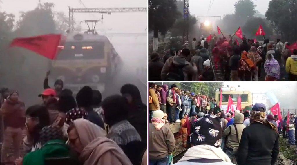 Bharat Bandh, January 8, 2020: রাজ্যে দফায় দফায় রেল-রাস্তা অবরোধ, হৃদয়পুর স্টেশনে লাইনে মিলল বোমা