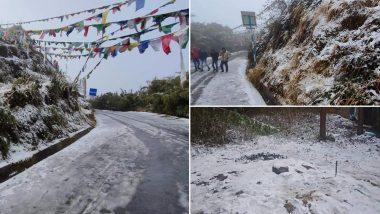Seasons First Snowfall At Tiger Hill: মরশুমের প্রথম তুষারপাত টাইগার হিলে, আনন্দে মাতোয়ারা পর্যটকরা