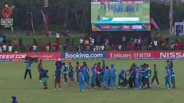 Bangladesh U19 Players Indulge Into A Physical Fight With India U19 Team: অনূর্ধ্ব-১৯ বিশ্বকাপ জিতে মাঠেই ভারতীয় দলের সঙ্গে অভব্য আচরণ বাংলাদশের ক্রিকেটারদের (দেখুন ভিডিও)
