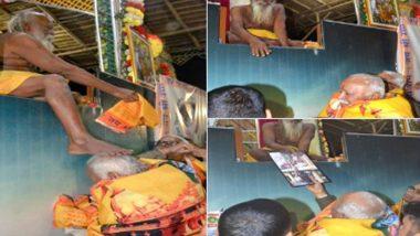 Mohan Bhagwat: সংঘ প্রধানের মাথায় সাধুর পা, বাবার আশীর্বাদ নিতে রাঁচিতে মোহন ভাগবত; ছবি ভাইরাল