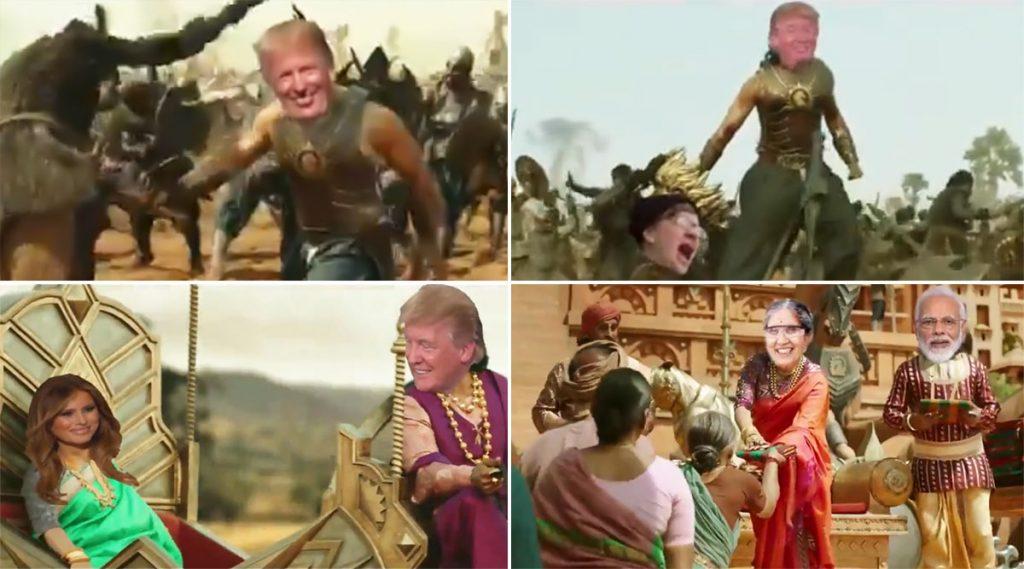 Donald Trump: 'বাহুবলী' রুপে অ্যামেরিকার প্রেসিডেন্ট ডোনাল্ড ট্রাম্প, সেটা কীভাবে?