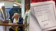 Donald Trump at Sabarmati Ashram: সবরমতী আশ্রমে চরকা কাটলেন মেলানিয়া, ভিজিটরস বুকে নরেন্দ্র মোদিকে 'বার্তা' ডোনাল্ড ট্রাম্পের