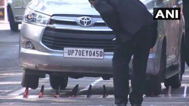 Parliament Security On Alert: ভুল করে বুম ব্যারিয়ারে ধাক্কা, সংসদ চত্বরে ফাঁসল বিজেপি নেতার গাড়ির চাকা (দেখুন ভিডিও)