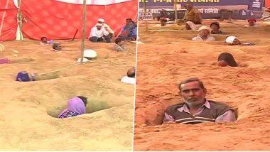 Zameen Samadhi Satyagraha: চাষের জমি অধিগ্রহণ করছে সরকার, এক বুক মাটিতে পুঁতে জমিন সত্যাগ্রহ শুরু করলেন চাষিরা