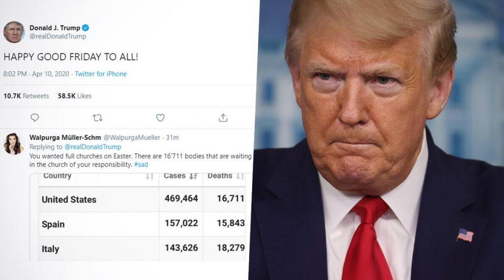 Donald Trump: 'Happy Good Friday' টুইট করে সমালোচনার মুখে ডোনাল্ড ট্রাম্প