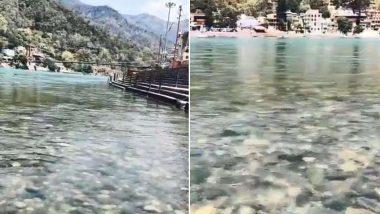 Ganga River Flows Clear As Crystal At Rishikesh: ঋষিকেশে ঝকঝকে গঙ্গার জল, মুগ্ধ করবে নির্মলতা