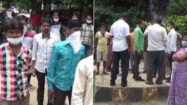 Coronavirus Lockdown: ট্রেন চালানোর অনুমতি দিচ্ছে না পশ্চিমবঙ্গ সরকার, কর্নাটকের শিবামোগ্গায় বিক্ষোভ রাজ্যের অভিবাসী শ্রমিকদের