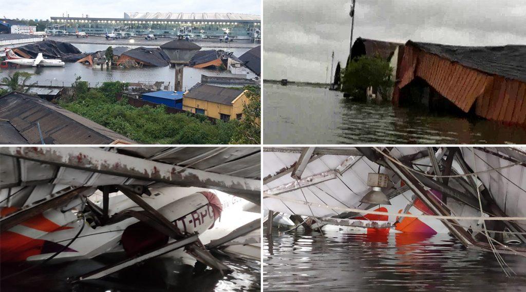 Kolkata Airport Flooded: আম্ফান ঘূর্ণিঝড়ের তাণ্ডবে তছনছ দক্ষিণবঙ্গ, হাঁটু জল জমে কলকাতা বিমানবন্দরে