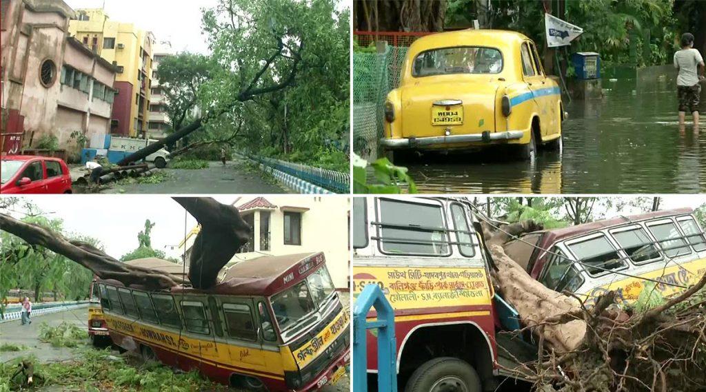 Cyclone Amphan: আম্ফান ঘূর্ণিঝড়ের তাণ্ডবে তছনছ কলকাতা ও দুই ২৪ পরগনা, শহরে মৃত্যু ৩ জনের