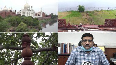 Taj Mahal: ঝড়-বৃষ্টির দাপটে বিপর্যস্ত উত্তরপ্রদেশের আগ্রা, ক্ষতিগ্রস্ত তাজ মহলের একাংশ