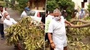 Dilip Ghosh: 'সরকারের উপর ভরসা না করে সাধারণ মানুষেরও উচিত এগিয়ে আসা', দা-কুড়ুল নিয়ে রাস্তায় গাছ কাটতে নামলেন দিলীপ ঘোষ