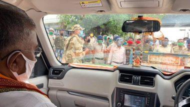 Dilip Ghosh: আম্ফান ঘূর্ণিঝড় বিধ্বস্ত দক্ষিণ চব্বিশ পরগণা পরিদর্শনে যাওয়ার পথে দিলীপ ঘোষকে রাস্তায় আটকাল  পুলিশ