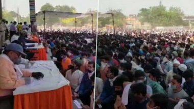 Ghaziabad: সামাজিক দূরত্ব না মেনেই শ্রমিক স্পেশাল ট্রেনে' নাম নথিভুক্তকরণ, হাজার হাজার পরিযায়ী শ্রমিকের ভিড়ে বাড়ছে করোনা-সংক্রমণের আশঙ্কা