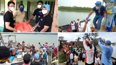 Kolkata: সুন্দরবনের আম্ফানে বিপর্যস্ত মানুষদের হাতে ত্রাণসামগ্রী তুলে দিল অনুস্বর বাগুইআটি
