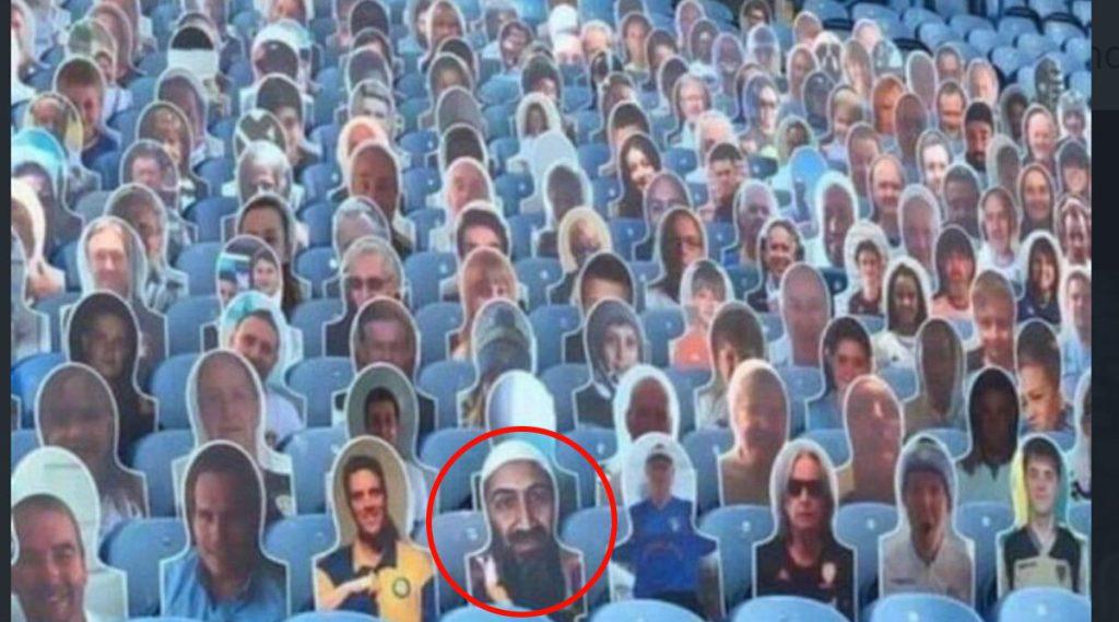 Osama Bin Laden Cut Out: মাঠে বসে ইংলিশ প্রিমিয়র লীগের খেলা দেখছেন ওসামা বিন লাদেন!