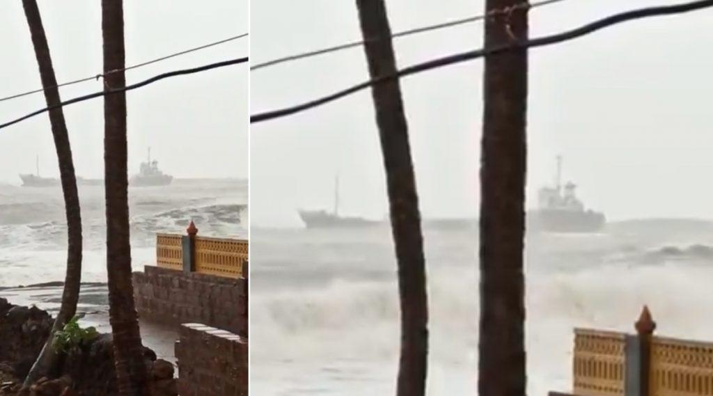 Cyclone Nisarga: মহারাষ্ট্র উপকূলে আছড়ে পড়ল ঘূর্ণিঝড় নিসর্গ, গতিবেগ ঘণ্টায় ১১০ কিমি
