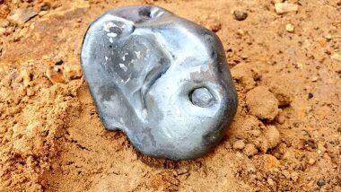 Metallic Meteorite-Like Object Falls in Rajasthan: রাজস্থানের জালোর জেলায় আকাশ থেকে পড়া ধাতব উল্কার মতো বস্তু ঘিরে হইচই, দেখুন ছবি